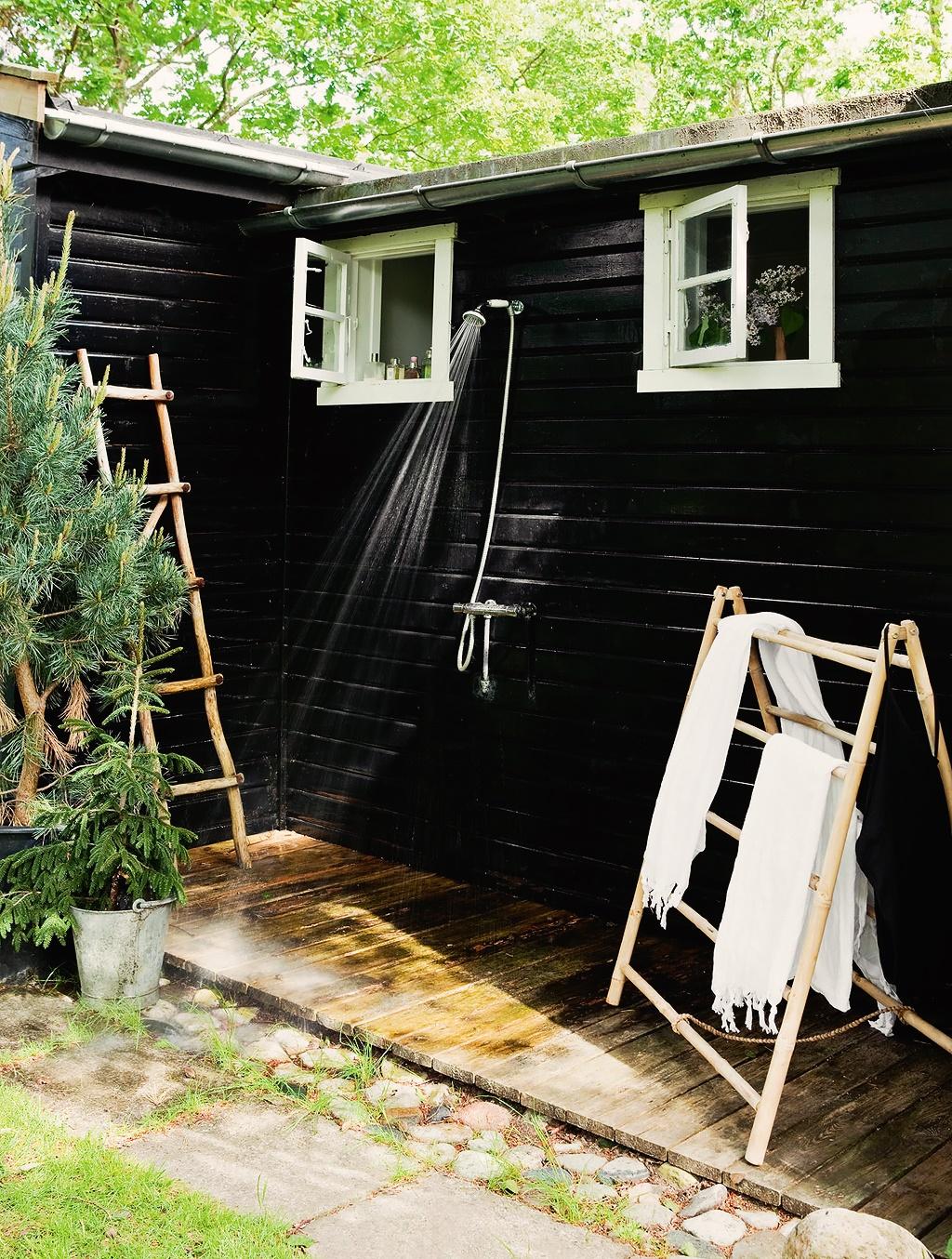 Casa de Verano Escandinava Ducha Exterior