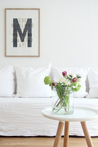 Flores de primavera en el salón
