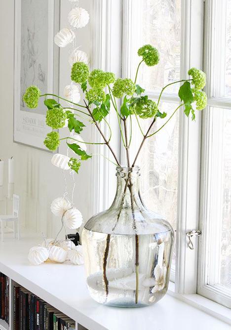 Flores de primavera verdes
