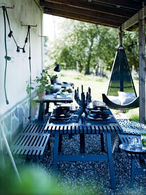 Decorar tu balcón comida al aire libre