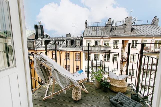 Decorar tu balcón tumbona