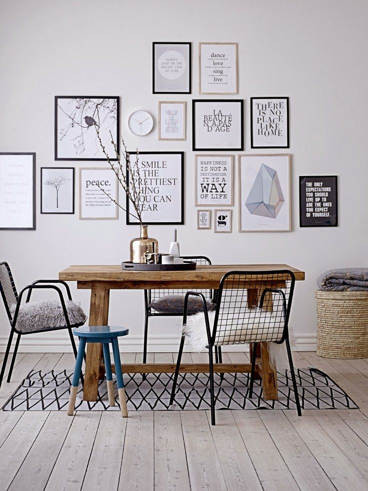 Tendencias de Estilo Escandinavo 2015 Gallery Walls