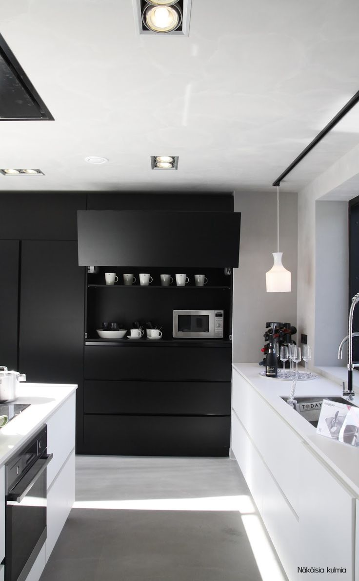 Black Kitchen blanco