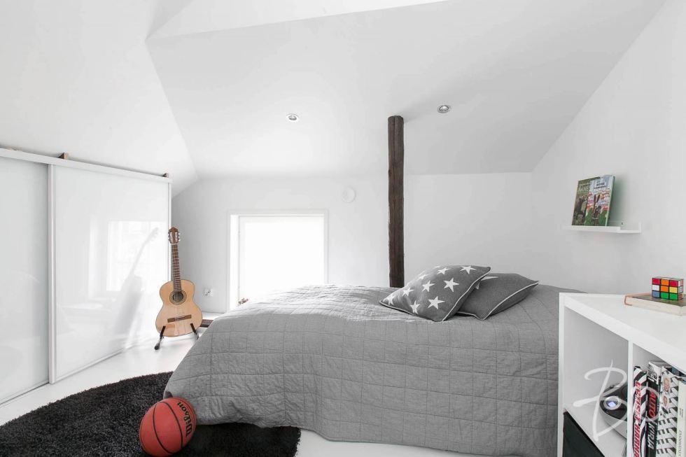 Estilo Escandinavo dormitorio chico