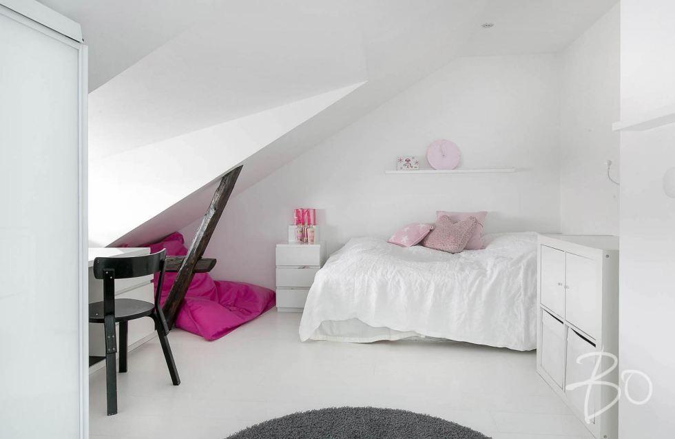 Estilo Escandinavo dormitorio femenino