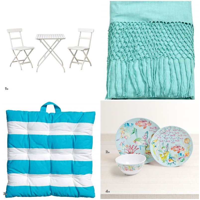 Shopping List para Camping blanco y azul