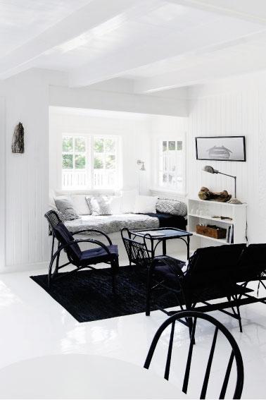Salón en Negro y Blanco