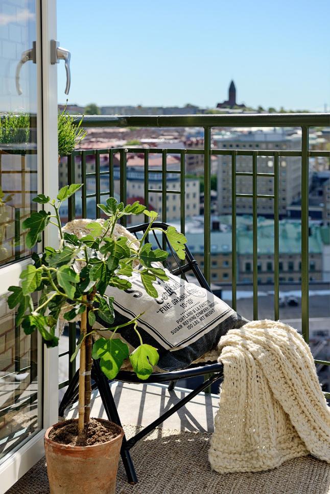 balcón casa sueca