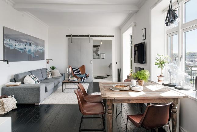 Detalles de estilo salón casa sueca