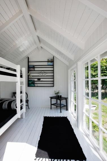 Dormitorio en Negro y Blanco