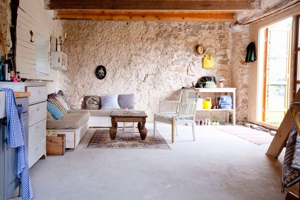 decorar una casa rural saln