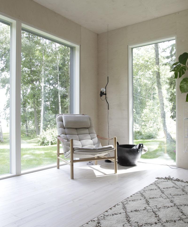Casa de Verano en Finlandia detalle salón