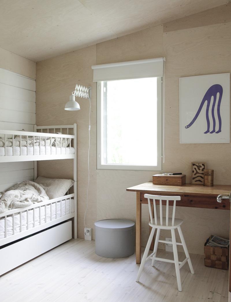 Casa de Verano en Finlandia dormitorio niños