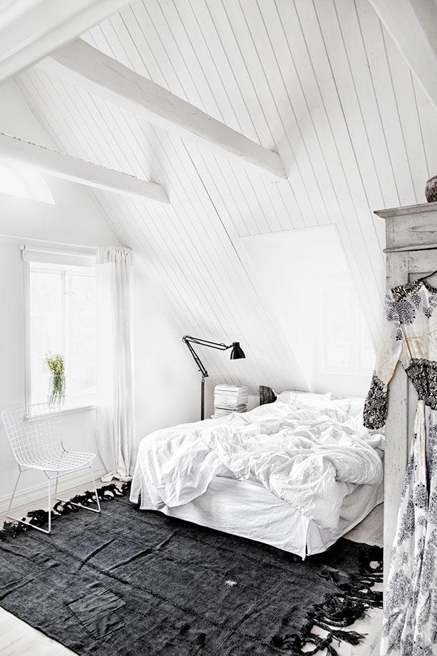 Dormitorio rústico escandinavo 2