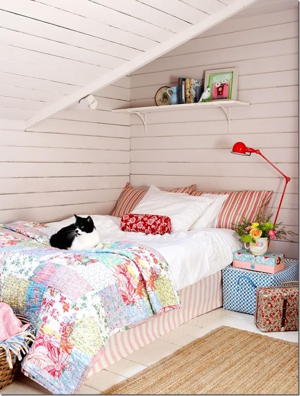 dormitorio neo rústico plaid