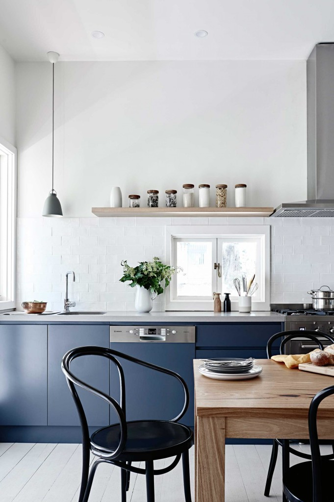 Cocinas azul oscuro casi negro