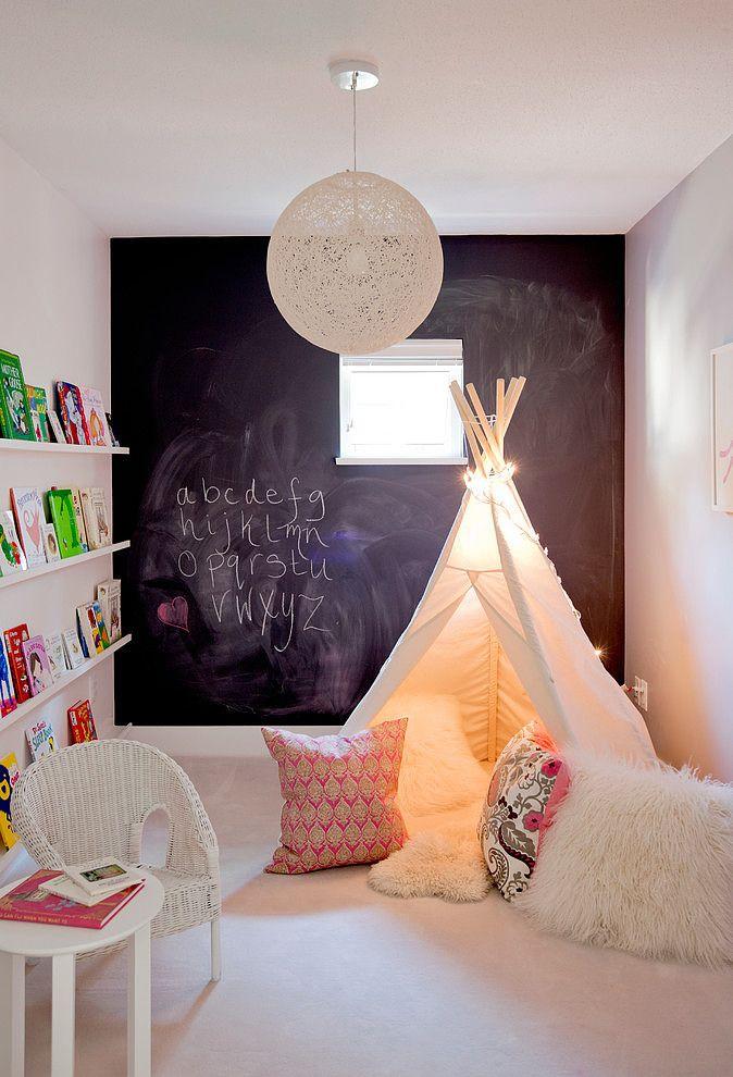 Pared de Pizarra en dormitorio infantil