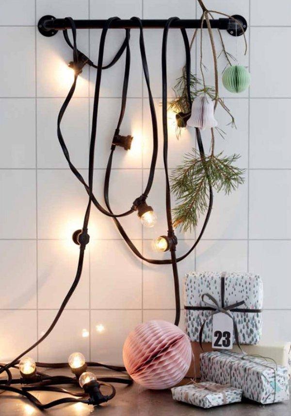 Decorar una Nordic Christmas guirnalda