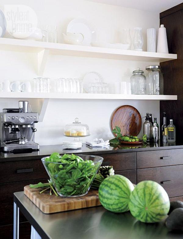 Open Shelving Kitchen grey