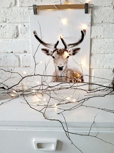 Decorar una Nordic Christmas lámina