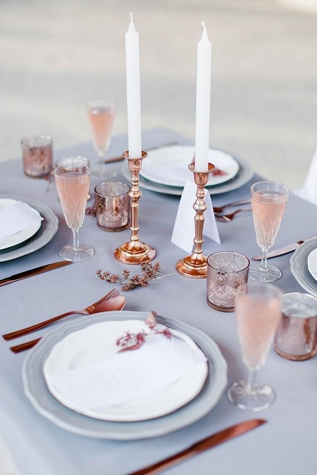 Decor Trends 2016 Quartz-rose-table-setting