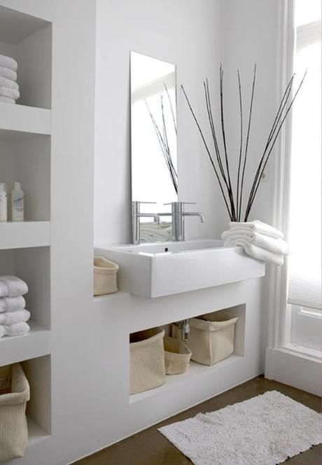 Decorar un Baño Blanco Total
