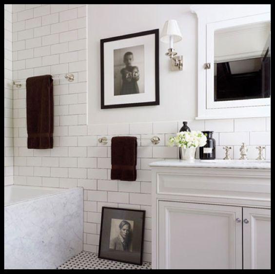 Decorar un Baño Blanco con fotografías