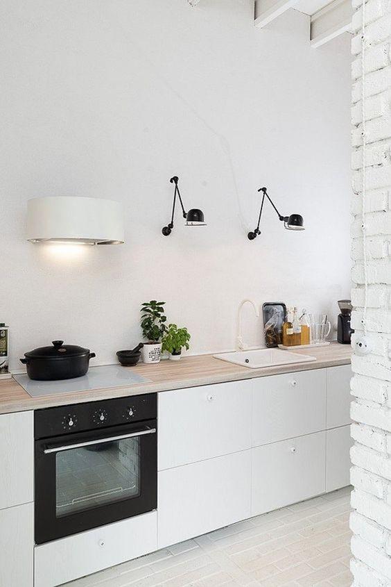 Flexos en la Cocina Black and White