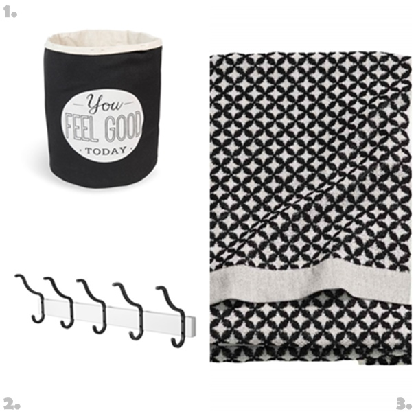 Get the look Decorar un Baño Blanco y Negro
