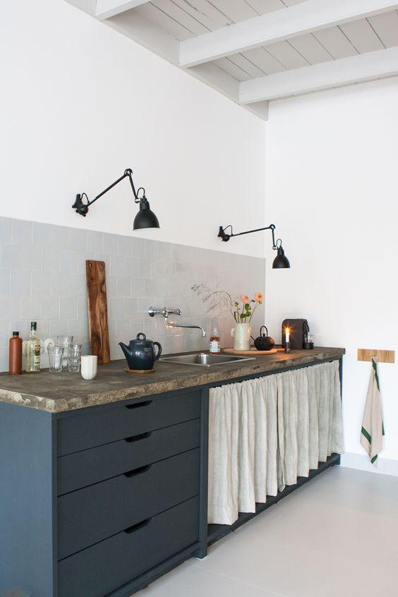 Flexos en la cocina rústica