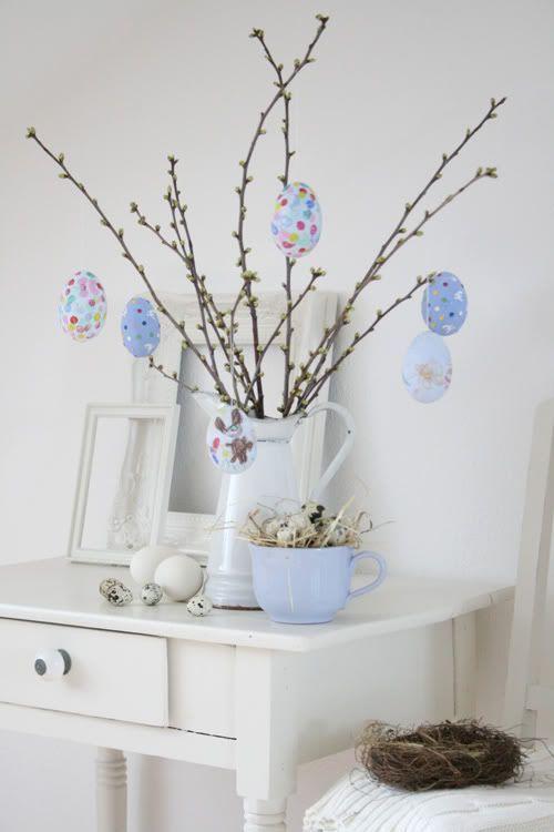 Mesa de Pascua Nórdica en Tonos Pastel