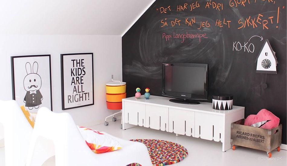 Pizarra en Habitación Infantil Nórdica