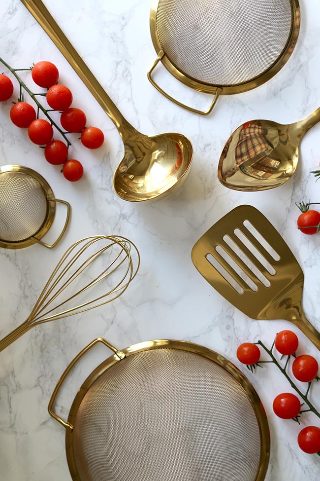 Dorado es Tendencia en 2016 Utensilios de cocina