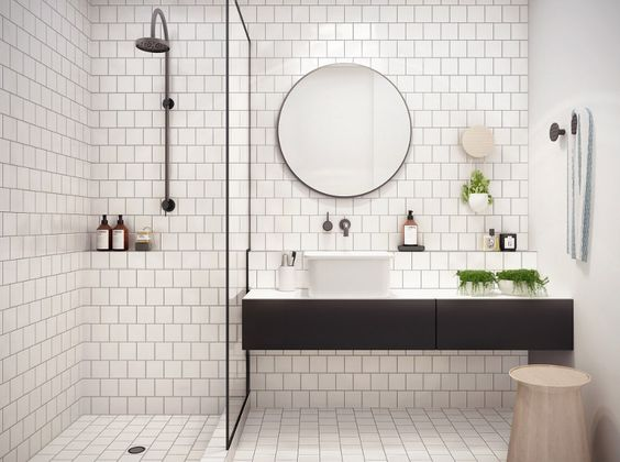 Subway Tiles en la Decoración de Estilo Nórdico - Baños