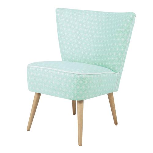 Motivos geométricos en tonos pastel sillón