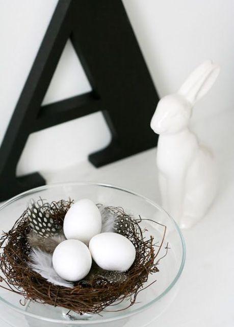 Mesa de Pascua Nórdica con un Nido