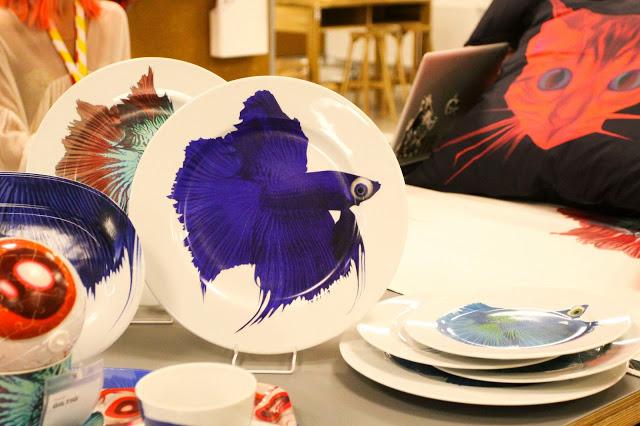 Giltig de ikea plato pez azul