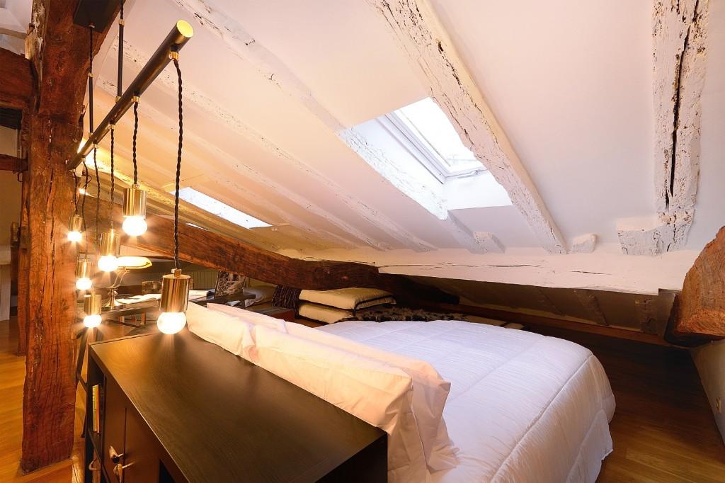 Ático en Bilbao dormitorio