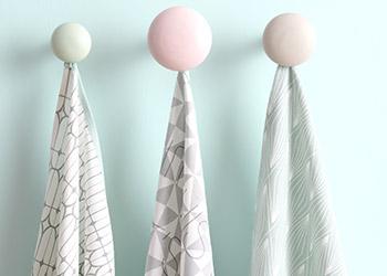 Motivos Geométricos en Tonos Pastel Textiles