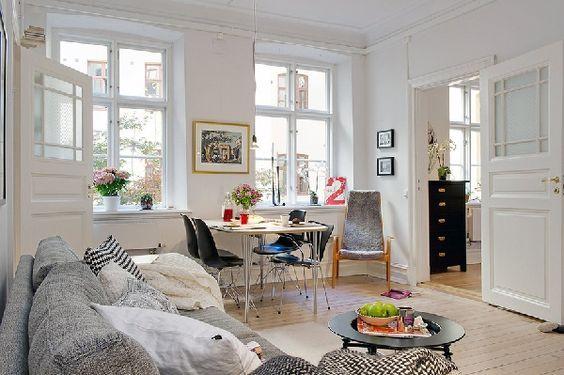 Decorar Salón pequeño añadiendo espacio