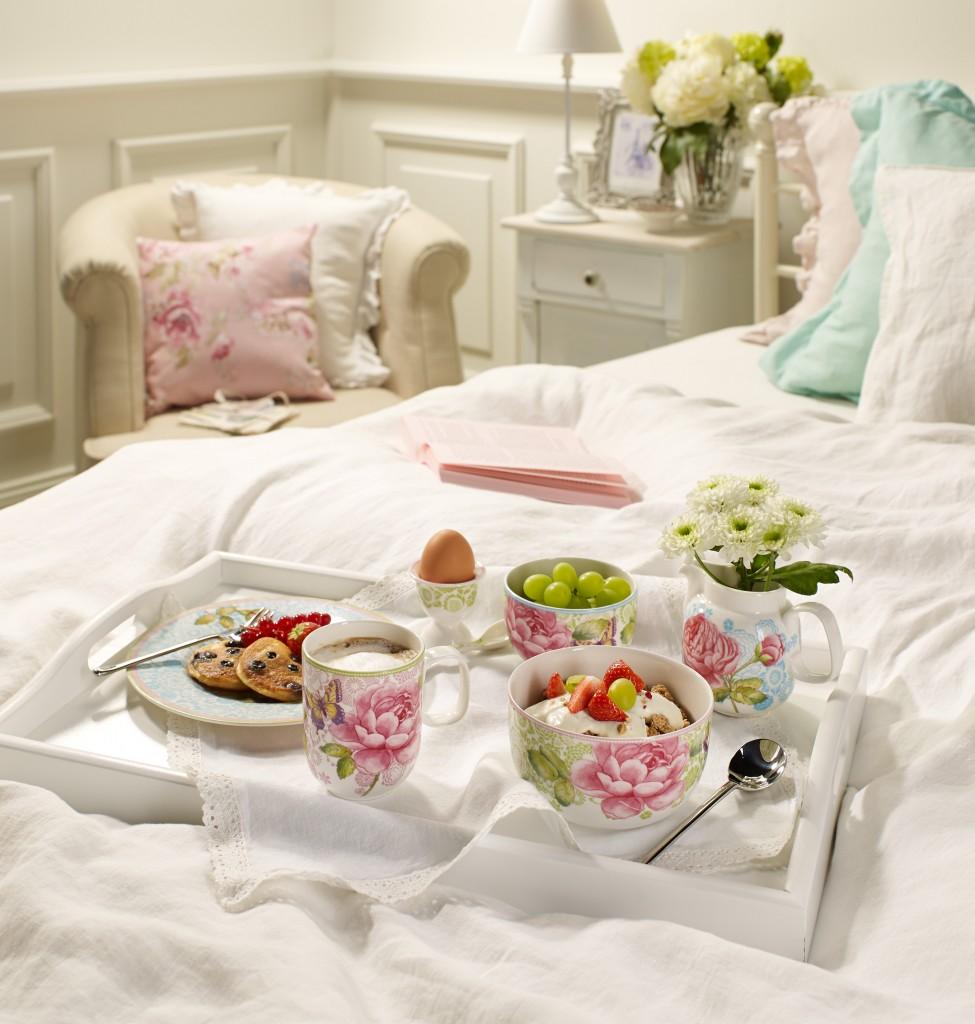 Mesas Bonitas para el Día de la Madre - desayuno en la cama