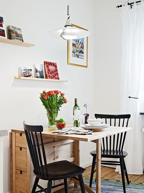 Salón pequeño mesa plegable madera