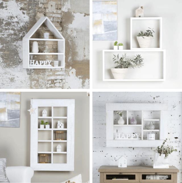 Muebles de estilo nórdico ESTANTES-Y-CUBOS