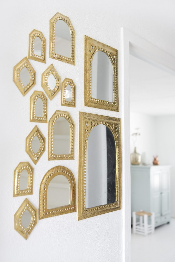 Decoración Nórdica - Pared de espejos marroquíes