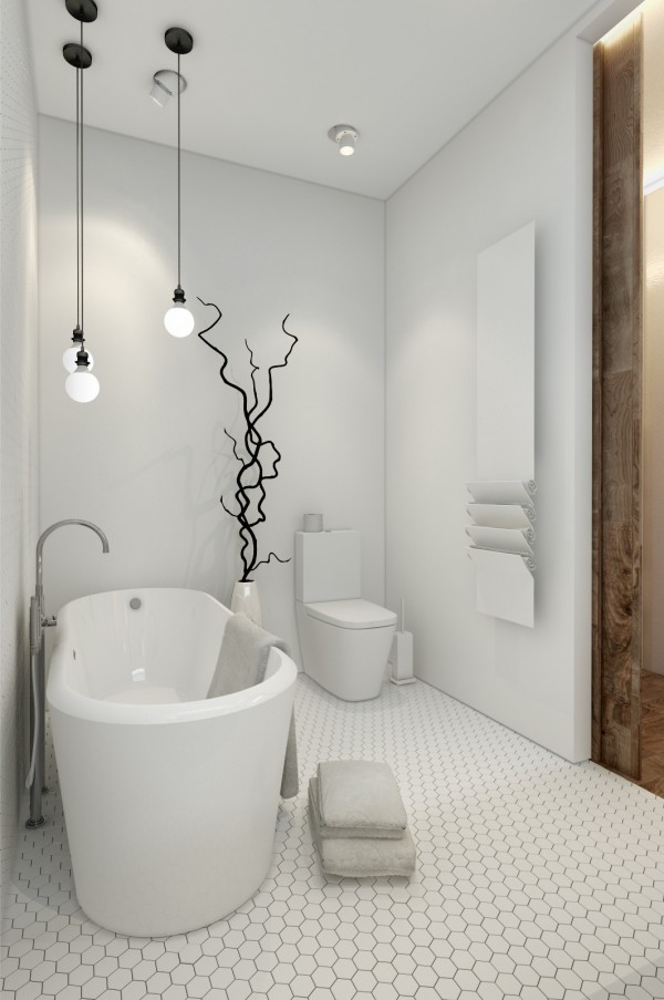 Baño de estilo nórdico diseño