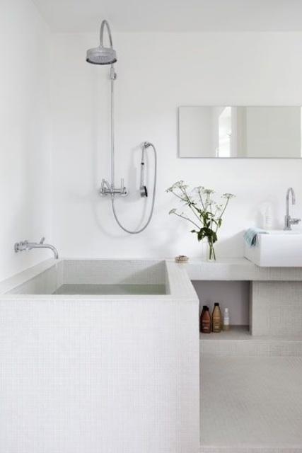 Baño de estilo nórdico minimalismo