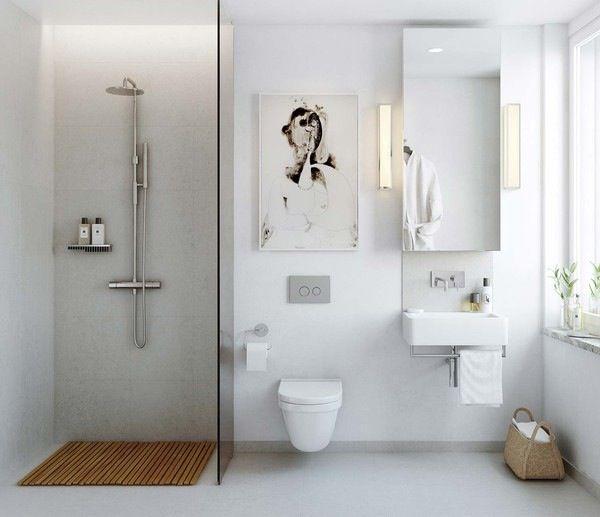 baño de estilo nórdico con ducha