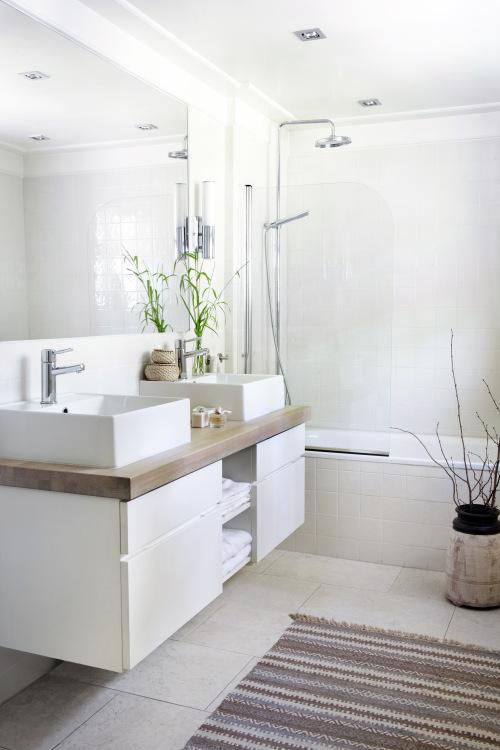 baño de estilo nórdico tonos neutros