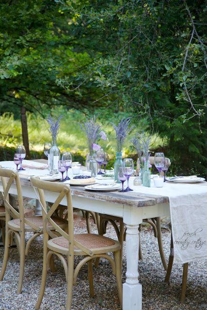 Comida al aire libre - decoración de mesa