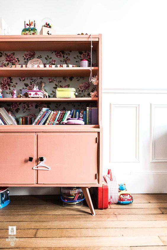 Estilo nórdico y color rosa vintage